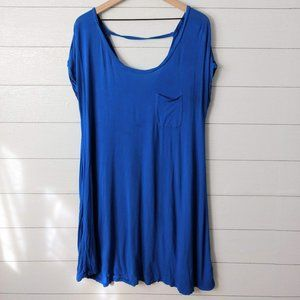American Eagle Blue Tee Shirt Dress Cover Up M